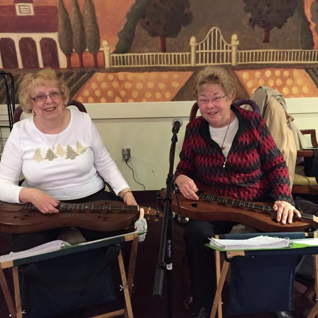 Patricia and Shannon making their strings sing!